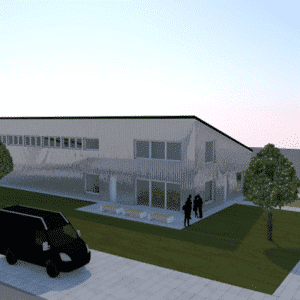 3D Modell geplanten Bauwerkes